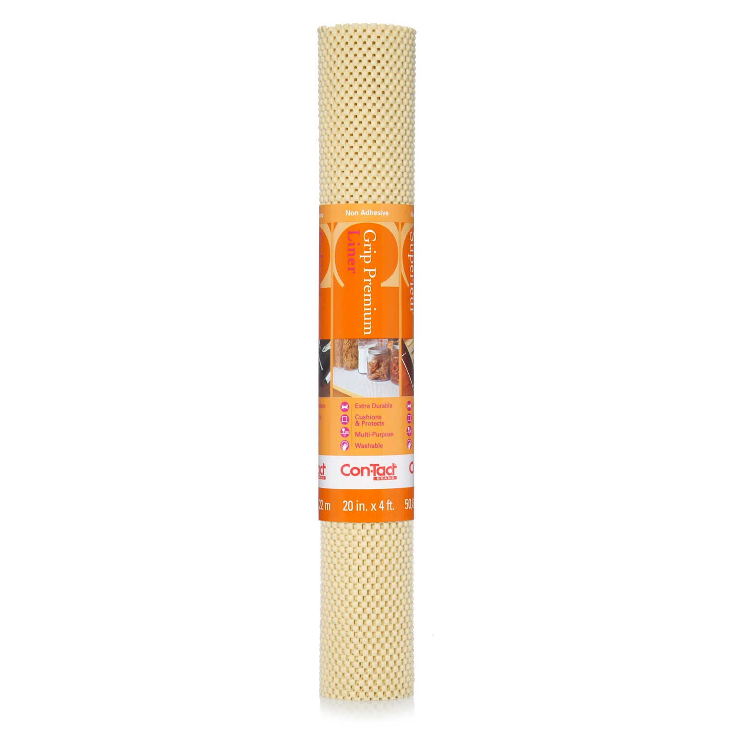 Con-Tact  Grip Premium  4 ft. L x 20 in. W Almond  Non-Adhesive  Shelf Liner