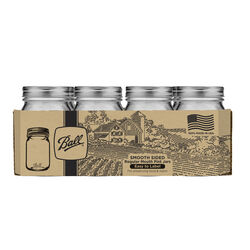 Ball  Smooth Sided  Regular Mouth  Canning Jar  12 pk