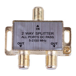 Monster Cable  Just Hook It Up  Satellite Splitter  75 Ohm 2150 mHz 1 pk
