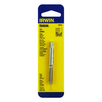 Irwin  Hanson  High Carbon Steel  SAE  Plug Tap  14-20NS  1 pc.