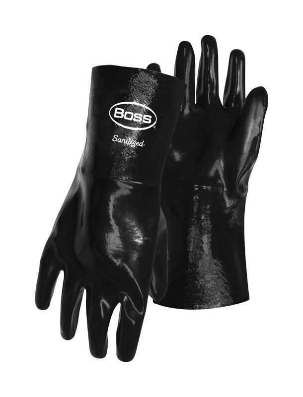 Boss  Chemguard Plus  Men's  Indoor/Outdoor  Neoprene  Chemical  Gloves  Black  L