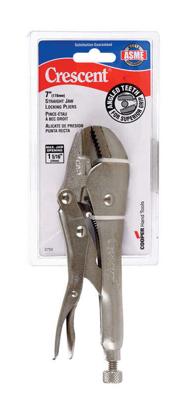 Crescent  7 in. Alloy Steel  Locking Pliers  Silver  1 pk