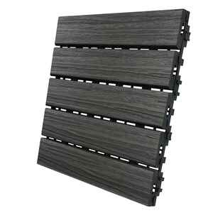 Aura  12 in. W x 12 in. L Driftwood  Composite  Balcony/Deck Tiles  6 sq. ft.