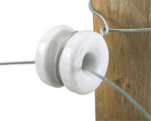 Dare Products  Electric-Powered  Electric Fence Insulator  White