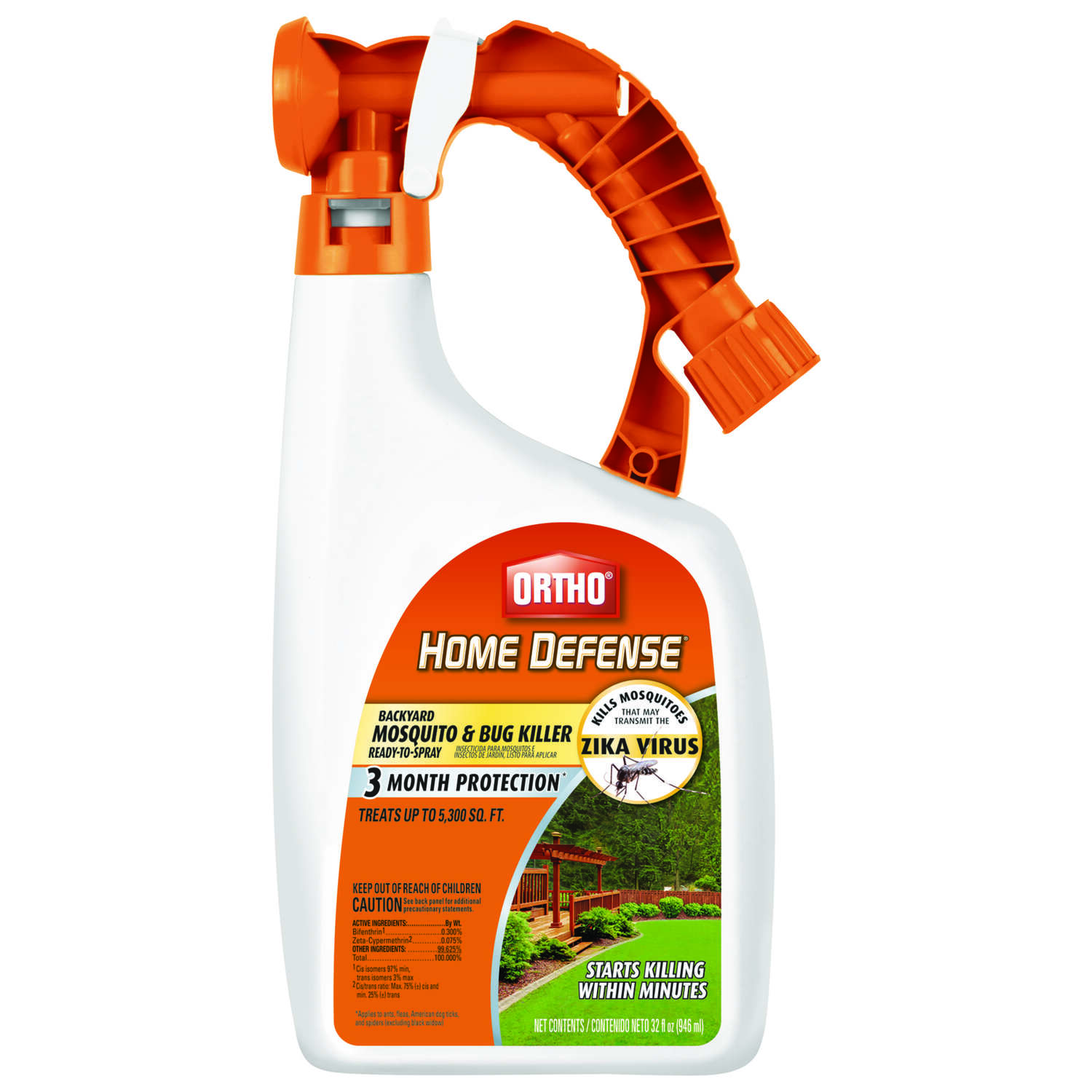 Ortho  Home Defense  Liquid Concentrate  Insect Killer  32 oz.