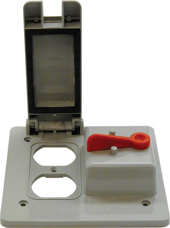 Cantex  Rectangle  PVC  2 gang Outlet/Switch Box  For Use with 2 Gang PVC Type FS Device Boxes