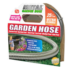 Metal Garden Hose As Seen On TV 5/8 in. Dia. x 25 ft. L Stainless Steel Garden Hose