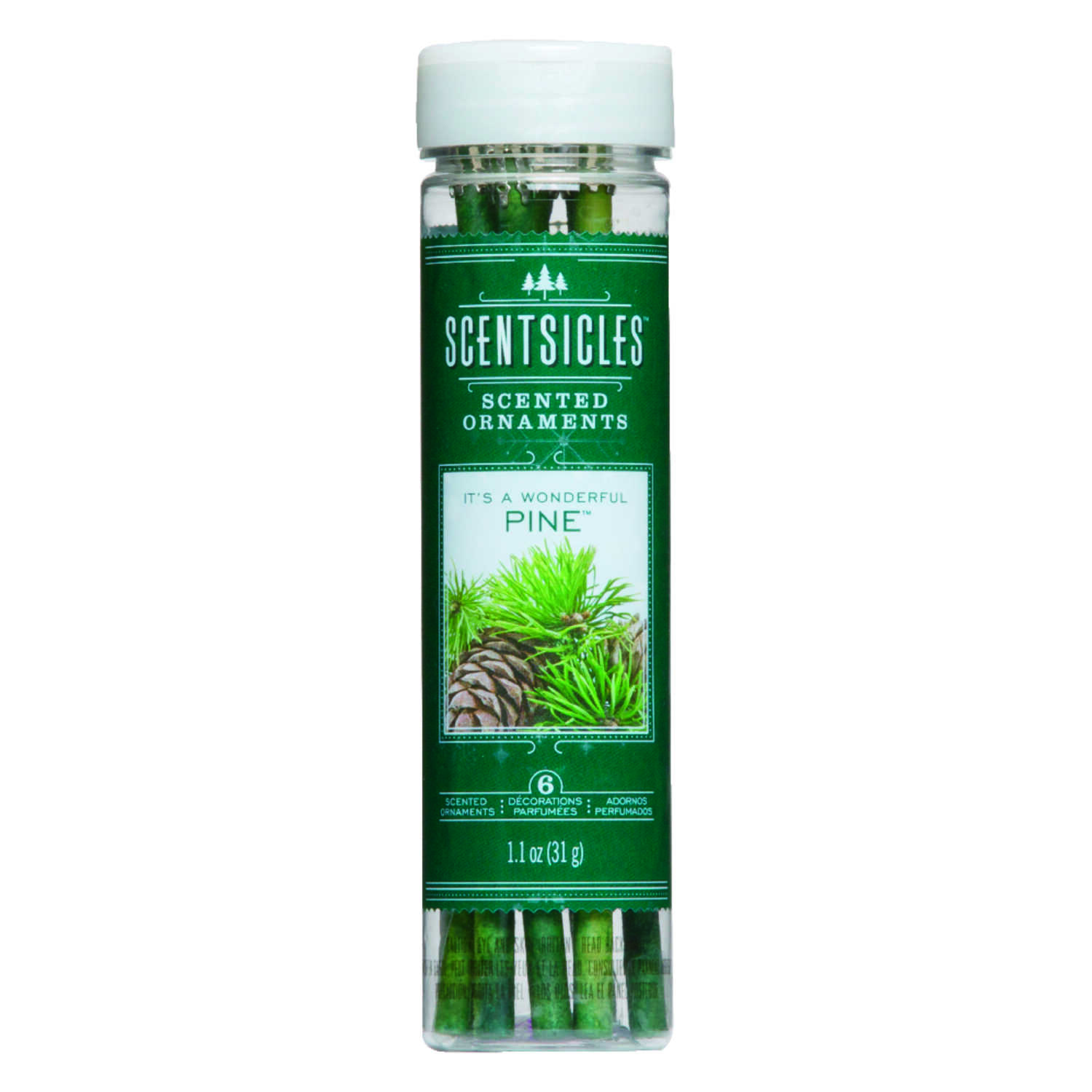 Scentsicles  Pine Scent Fragrance Sticks  6 oz. Solid