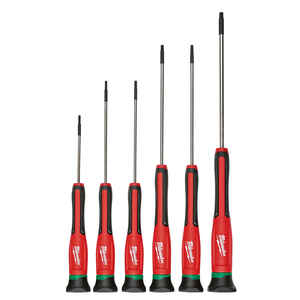 Milwaukee  6 pc. Torx  Multi-Bit Precision Screwdriver  6 in.
