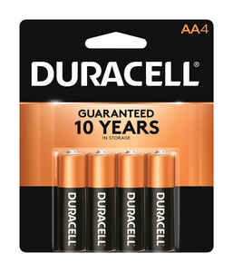 Duracell  Coppertop  AA  Alkaline  Batteries  4 pk Carded