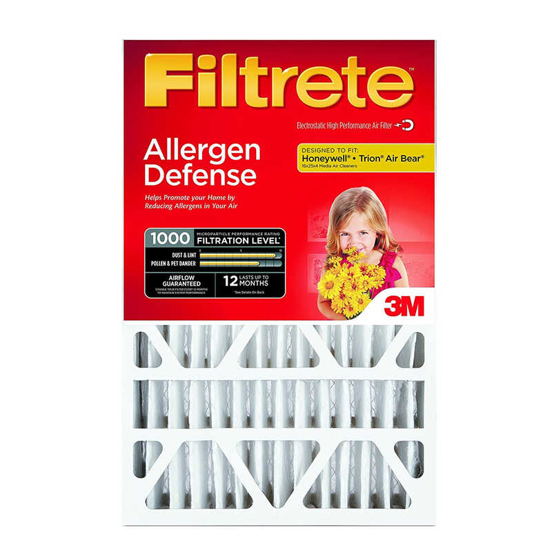 3M  Filtrete  20 in. H x 25 in. W x 4 in. D Air Filter