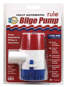 Rule  1100 gph Automatic Bilge Pump  12 volt