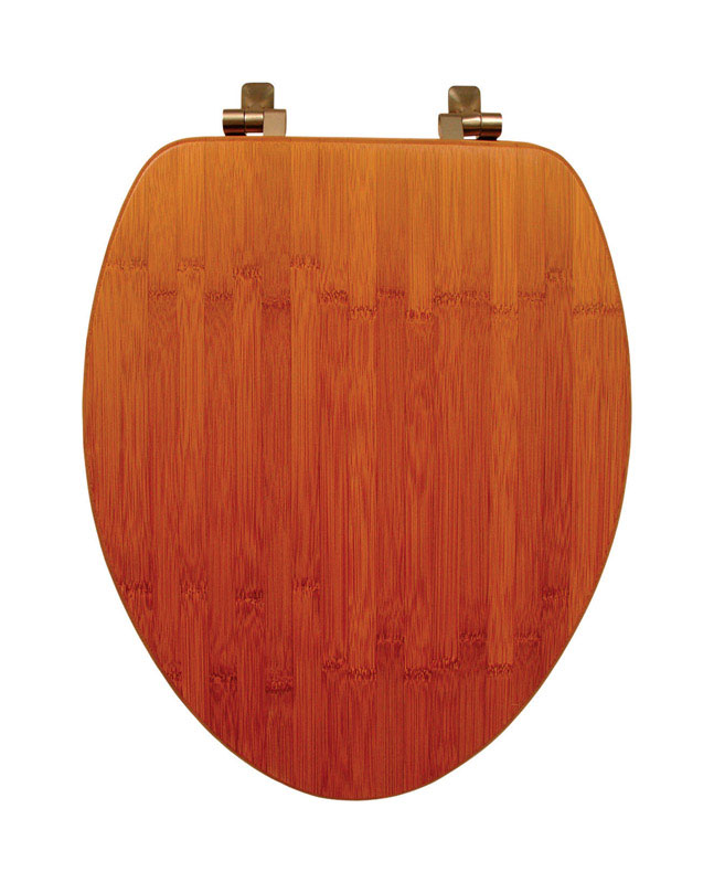 Mayfair  Elongated  Bamboo  Toilet Seat