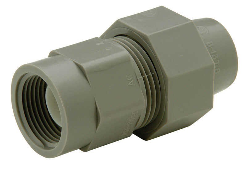 Zurn  Qest  1/2 in. CTS   x 1/2 in. Dia. FPT  Pex Female Adapter  Brass/Polyethylene