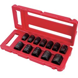 Craftsman  1/2 in. drive  Metric  Deep Impact Socket Set  12 pc.