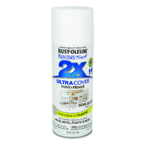 Rust-Oleum  Painters Touch Ultra Cover  Semi-Gloss  White  Spray Paint  12 oz.