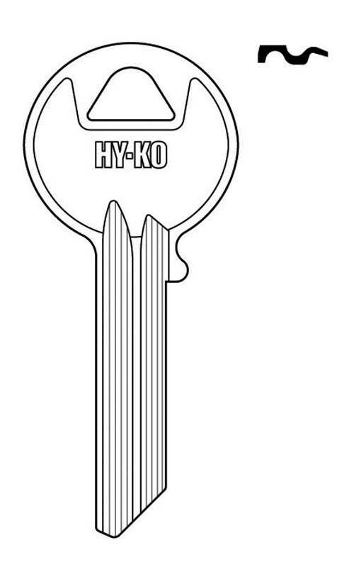 Hy-Ko  Automotive  Key Blank  EZ# Y54  Single sided For For Yale Locks