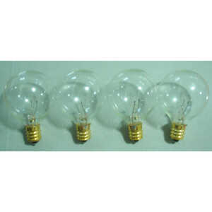 Summer Nights  Incandescent  G40  Replacement Bulb  Clear  25 pk