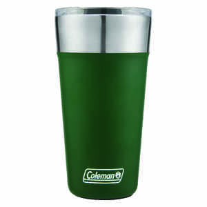 Coleman  Heritage Green  Stainless Steel  Brew  Insulated Tumbler/Glass  BPA Free 20 oz.