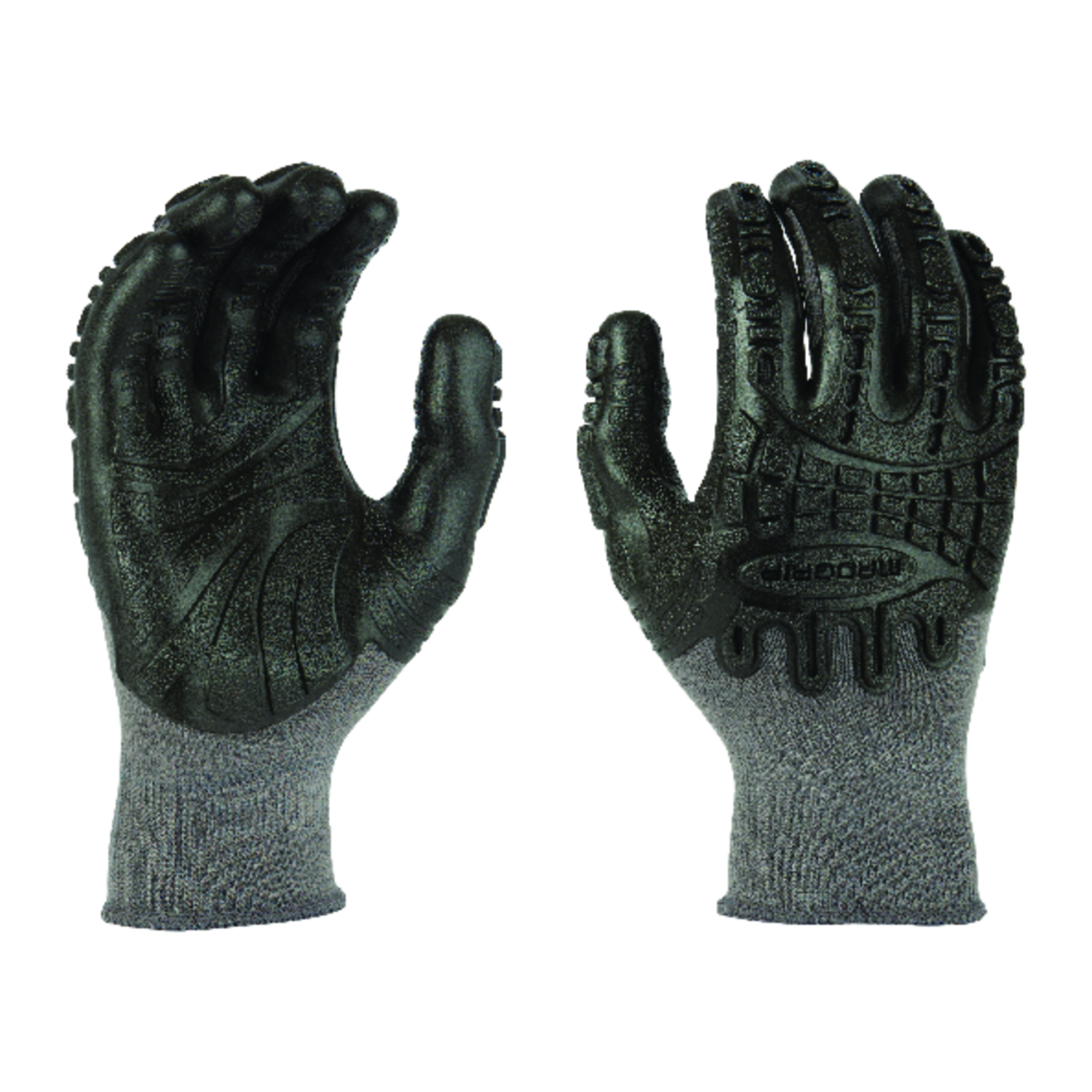 Madgrip  Thunderdome  Universal  Rubber  Coated  Work Gloves  Black  Large