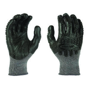 Madgrip  Thunderdome  Unisex  Rubber  Coated  Work Gloves  Black  L