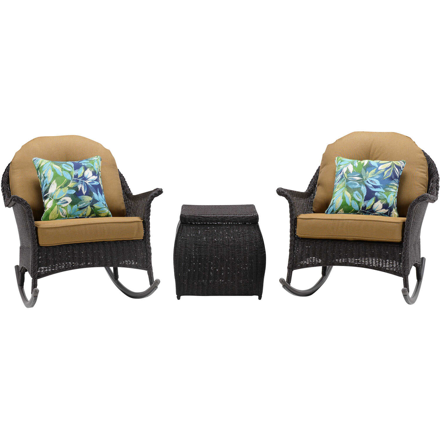 Hanover  San Marino  3 pc. Java  Steel  Patio Set  Country Cork
