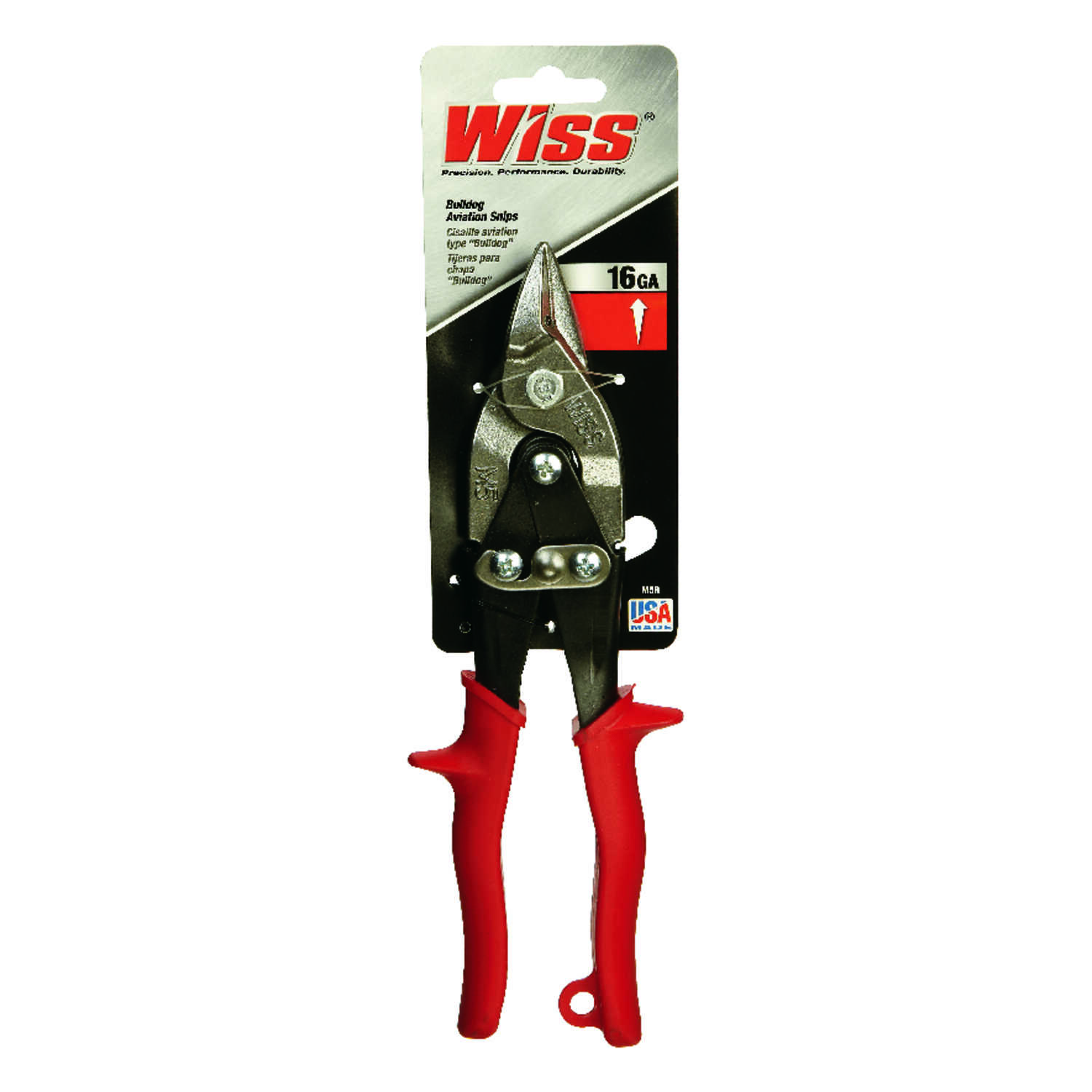 Wiss  9-1/4 in. Stainless Steel  Serrated  Bulldog Aviation Snips  1 pk