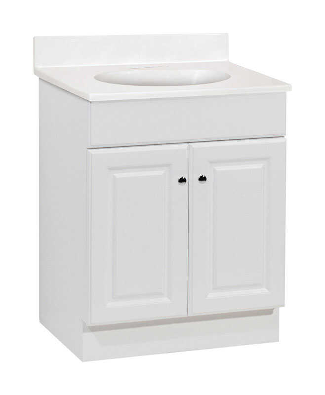 Continental Cabinets  Single  Bright  Vanity Combo  24 in. W x 18 in. D x 32 in. H