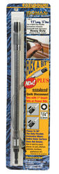 Eazypower  Flex A Bit  11 in. Hardened Steel  Flexible Screwdriver Extension  1/4 in. Hex Shank  1 p