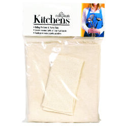 Fox Run  Kitchens  23.5 in. L x 19.5 in. Dia. Cotton  Pastry Cloth and Rolling Pin Cover  White