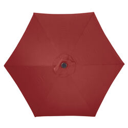 Living Accents Solar LED 9 Tiltable Red Market Umbrella