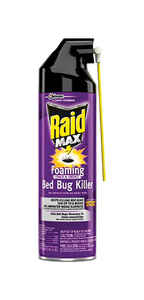 Raid  MAX Foaming Crack and Cervice  Bed Bug Killer  17.5 oz.