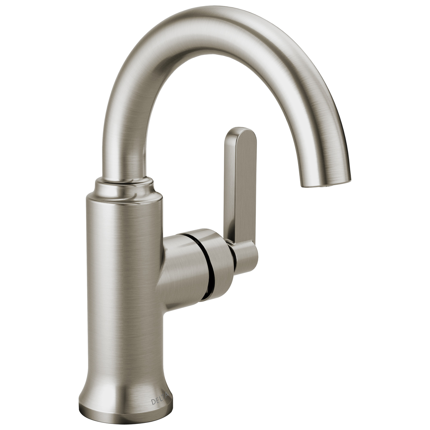 Delta  Alux  Single Handle  Lavatory Faucet  4 in. Brushed Nickel