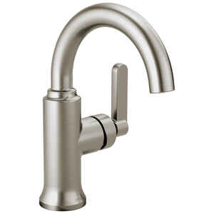 Delta  Alux  Spotshield Brushed Nickel  Single Handle  Lavatory Faucet  4 in.