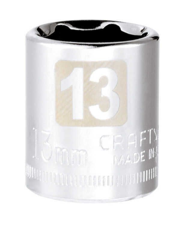 Craftsman  13 mm  x 1/4 in. drive  Metric  6 Point Standard  Socket  1 pc.