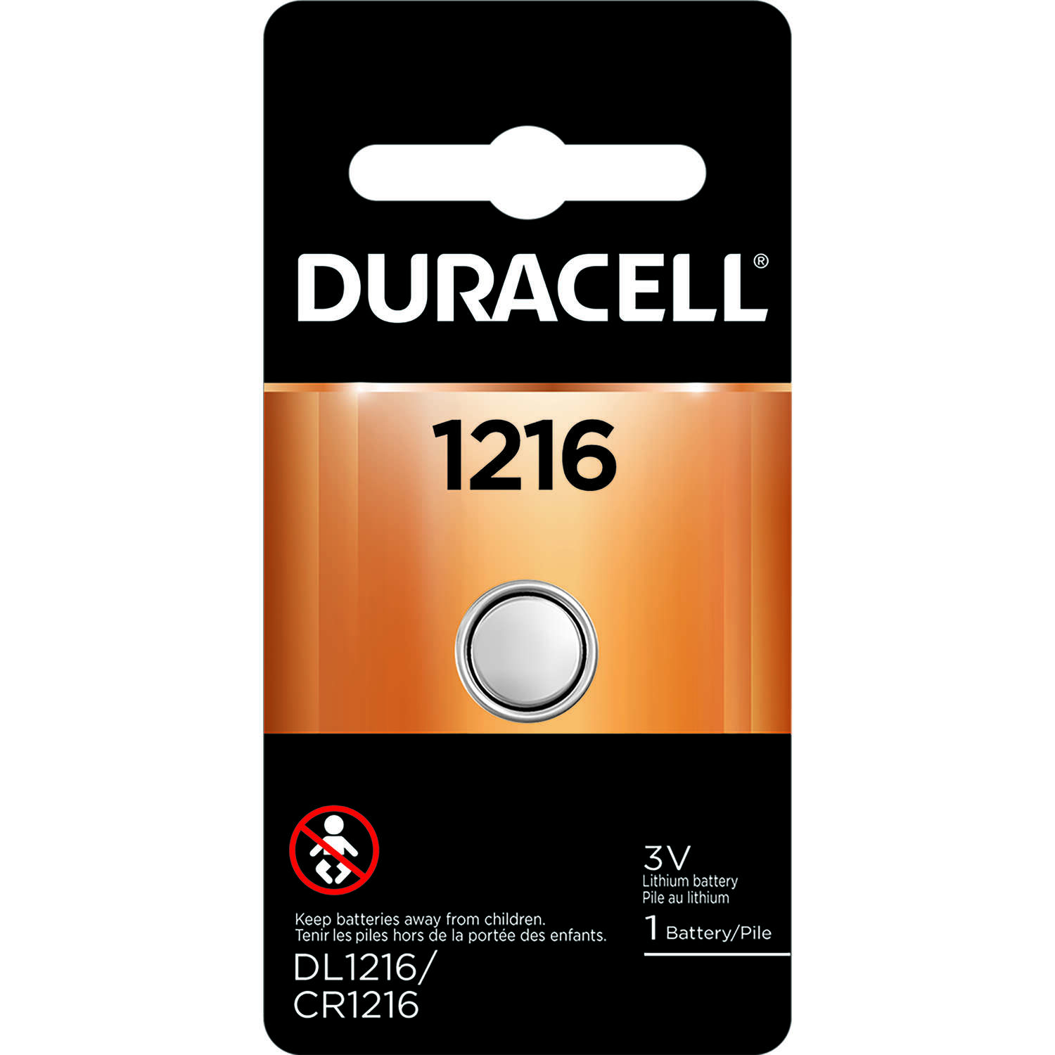 Duracell Lithium 1216 3.5 volt Medical Battery 1 pk