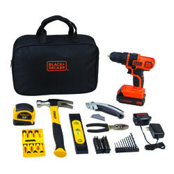 Black and Decker  Stanley  Cordless  70 tool Drill Driver and Home Project Kit  20 volt