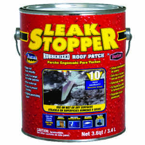 Leak Stopper  Gloss  Black  Rubber  Roof Patch  1 gal.