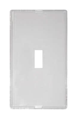Amerelle  Paper-It  Clear  1 gang Plastic  Toggle  Wall Plate  1 pk