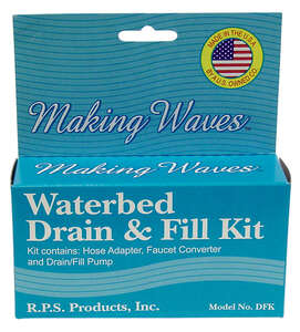 Making Waves  1.25 in. Dia. Plastic  Waterbed Drain and Fill Kit