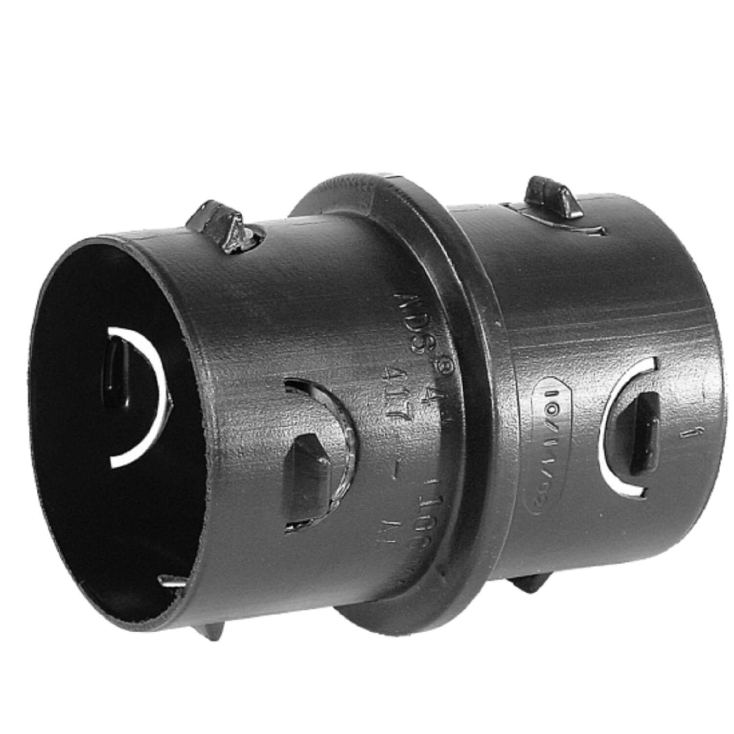 ADS  3 in. 3 in. Dia. Snap  Polyethylene  Internal Drain Coupling