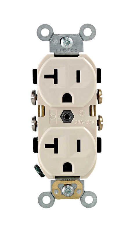 Leviton  20 amps 125 volt Light Almond  Outlet  5-20R  1 pk