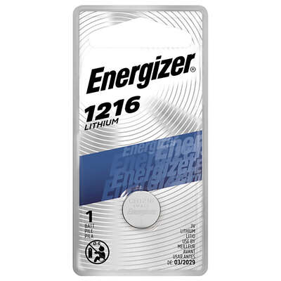 Energizer Lithium 1216 3 volt Keyless Entry Battery 1 pk