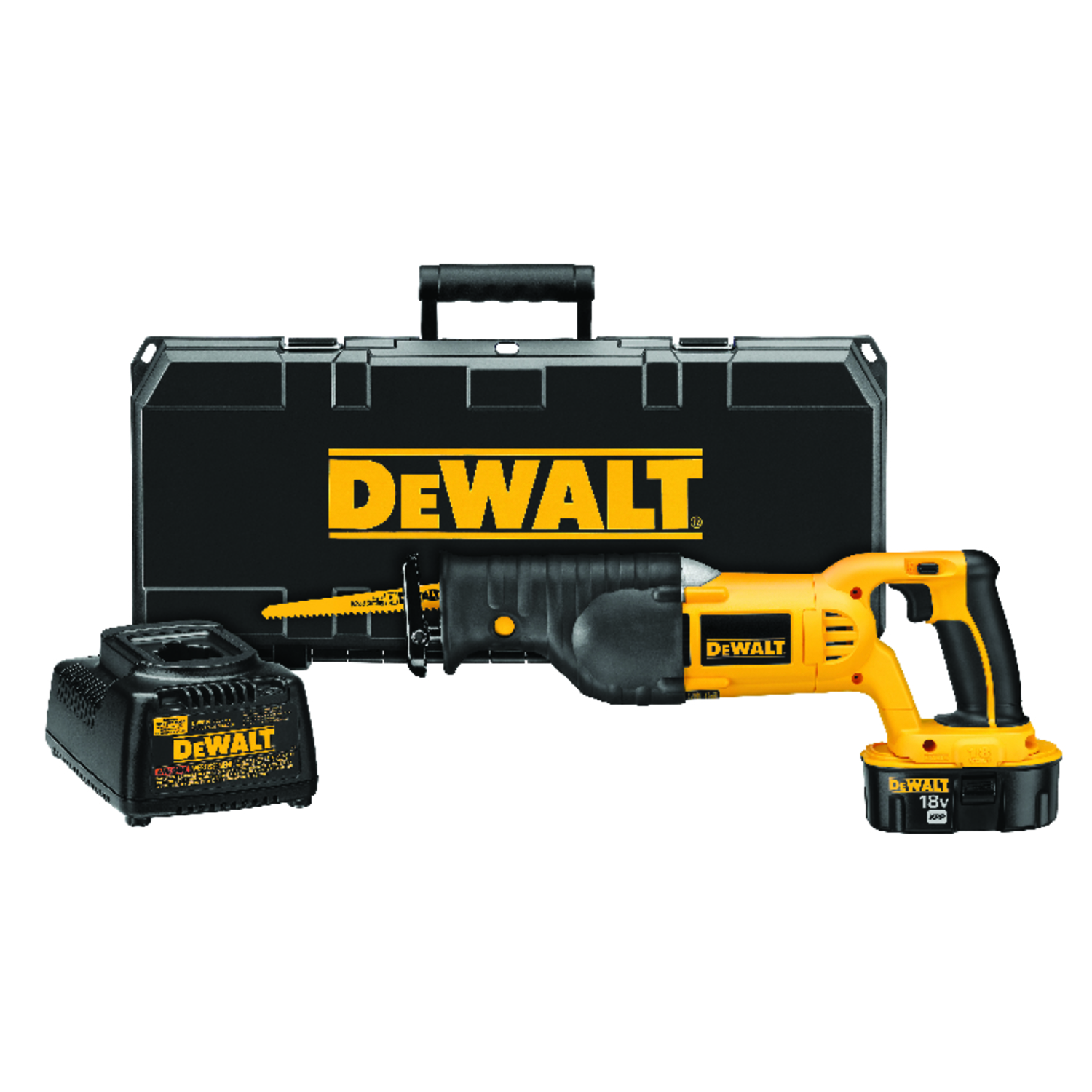 DeWalt  XRP  1-1/8 in. Reciprocating Saw Kit  18 volts 3000 spm Cordless  Kit
