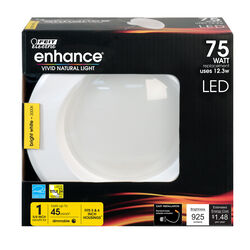 Feit Electric  Enhance  Bright White  5-6 in. W LED  Dimmable Recessed Downlight  12.3 watt