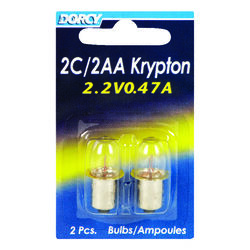 Dorcy 2C/2AA Krypton Flashlight Bulb 2.2 volt Bayonet Base