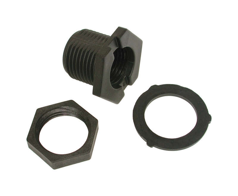 Dial  Nylon  Black  Evaporative Cooler Overflow Drain