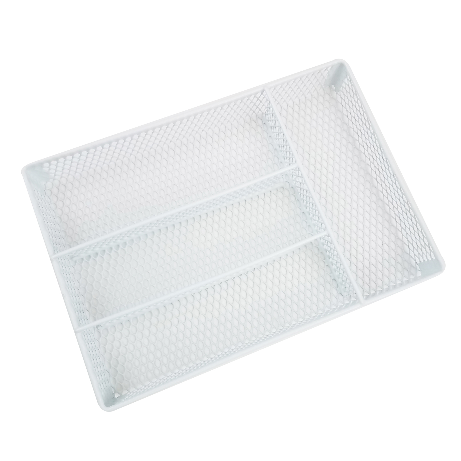 Homz  1.88 in. H x 10-3/4 in. W x 14-1/2 in. L Steel  White  Drawer Organizer