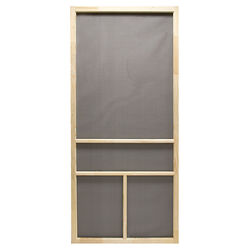 Precision  Dogwood  80-1/2 in. H x 32 in. W Dogwood  Natural Wood  Wood  Screen Door