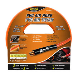 Amflo  25 ft. L x 3/8 in. Dia. Polyvinyl  Air Hose  300 psi Orange